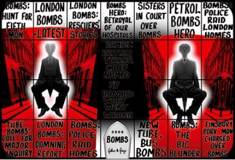 'bombs' (2006) by Gilbert & George © Jay Jopling and The White Cube