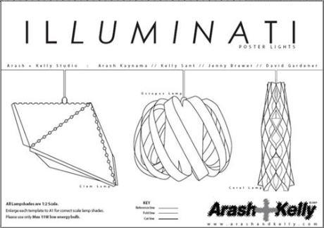 Illuminati lampshade pattern
