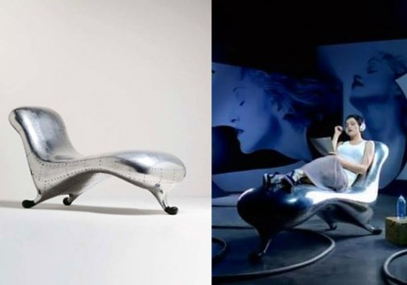 Marc Newson, 'Lockheed Lounge', 1988. Madonna Rain, image from sharedmusic.net