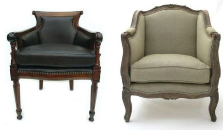 No doubt Napoleon would have loved these bergere chairs too