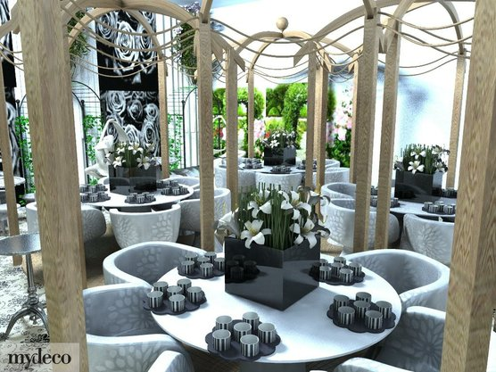 mydeco team member created his wedding reception with our 3D Room Planner