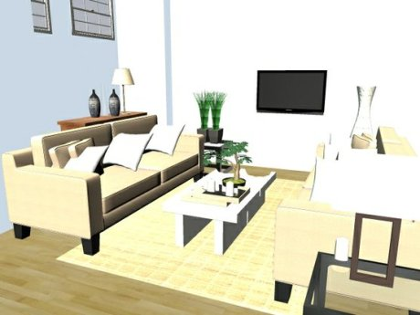 anu green 3d room