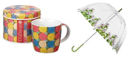 Ella Doran Churchill Sweetie Love mug and Pinky umbrella
