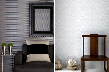 Kelly Hoppen's plain, neutral wallpaper range for B&Q