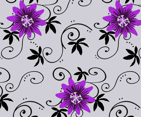 Sarah Barker's Passion Flower wallpaper design